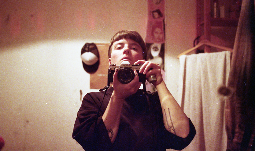 Prince Mary Superdone Mirror Self Portrait with analogue camera in a grrls bedroom